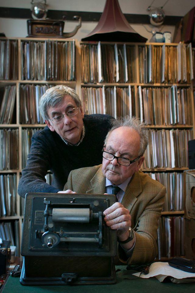 Mark and Ken inspect a vintage model.