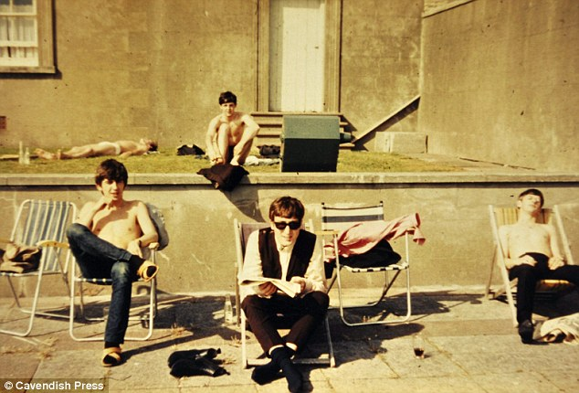 Beatles in the sun